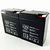 Sure Light 15003 SLA Replacement Battery 6V 8.5Ah SPS Brand 2 Pack