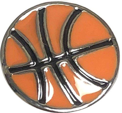 Interchangeable Mini 12mm Snap Jewelry Enamel Basketball Snap My Prime Gifts (Basketball Mini Enamel)