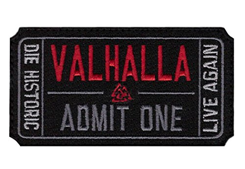 Viking Patch (Hook Ticket to Valhalla Valknut Morale Tactical Vikings Patch by Titan One)