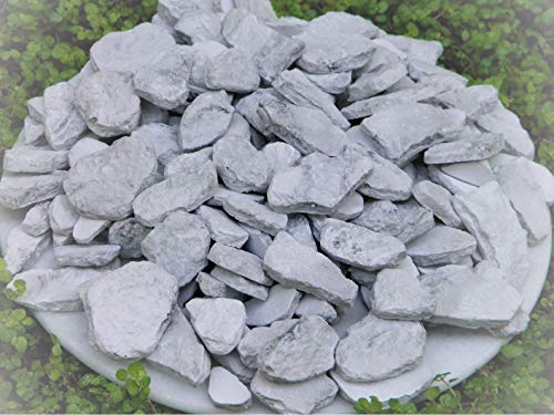 Dollhouse Christmas Village Gray Fieldstone Pavers Stones - Miniature Magic Scene Supplies for Your Fairy Garden - Outdoor and House Decor by New Garden Miniature (Image #1)