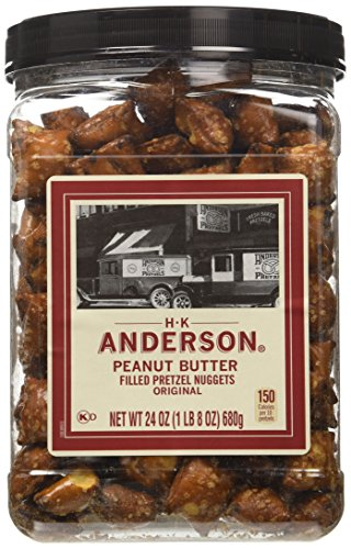 Nuggets Peanut Pretzel Filled Butter - Anderson Bakery Peanut Butter Nuggets Pretzel, 24-oz.