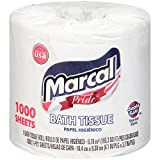 Marcal Pride 20 Roll 1000 Sheet Individually Wrapped Toilet Paper #03408