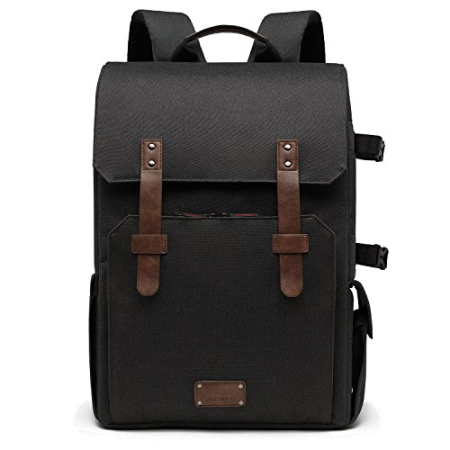 Tripod Classic Camera 200mm Camera Lens 70 Holder Cover amp; SLR Chic Laptop Black BAGSMART Waterproof DSLR Backpack amp; Rain with Black for Bag 15