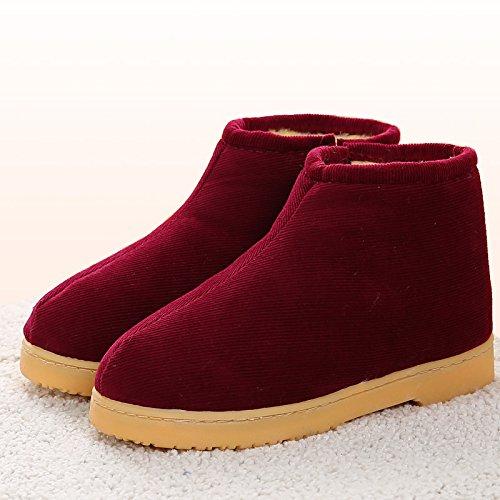 36 l'hiver chaussures chaleureux Chambre antiglisse Chaussons au en moelleux Accueil nbsp;L'hiver chaud Bourgogne hiver Chaussons LaxBa Chaussons 7WtOaw