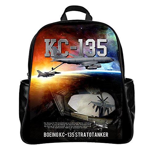 (Custom Backpack Travel Bag Printing USAF KC-135 Stratotanker (PU,Large))