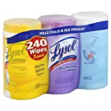 Lysol Disinfecting Cleaning Wipes, Variety Value Pack, 240 Count (Pack of 7)