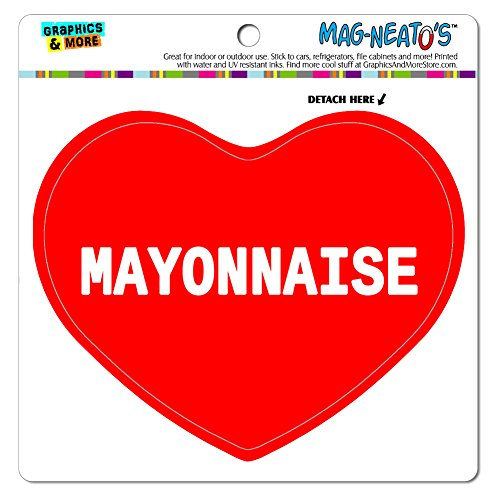 Graphics and More Car Refrigerator Vinyl Magnet I Love Heart Food M-O - Mayonnaise