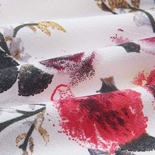 Primaverile Mare Tempo Bluse Elegante Maniche Modello Camicetta Carmen off Shirts Sciolto Bianca Lunghe Ladies Libero Fiore Ragazze Chic Estivi Ragazza Bluse Giovane Shoulder Moda q1EaZ