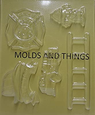 FIREFIGHTER KIT Chocolate Candy Mold With © Candy Making Instruction -set of 3