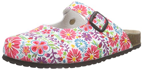 softwaves 276 057, Damen Clogs, Mehrfarbig (White Multi 199), 38 EU