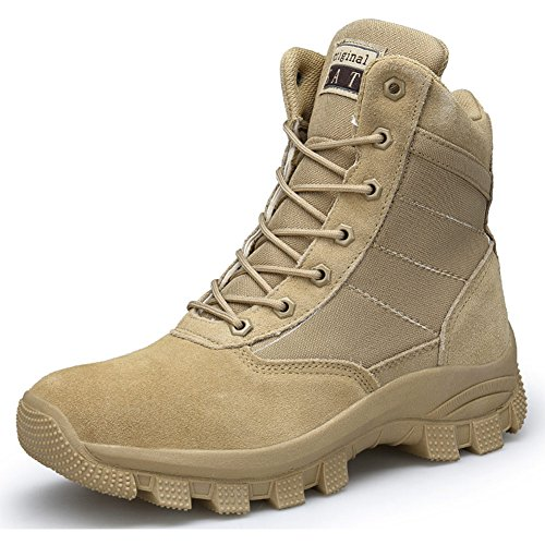 Boot Top High Zipper (AIRIKE Men's Waterproof Hiking Boots Backpacking Trekking Boots Climbing High Top Shoes Non Slip Sneakers)