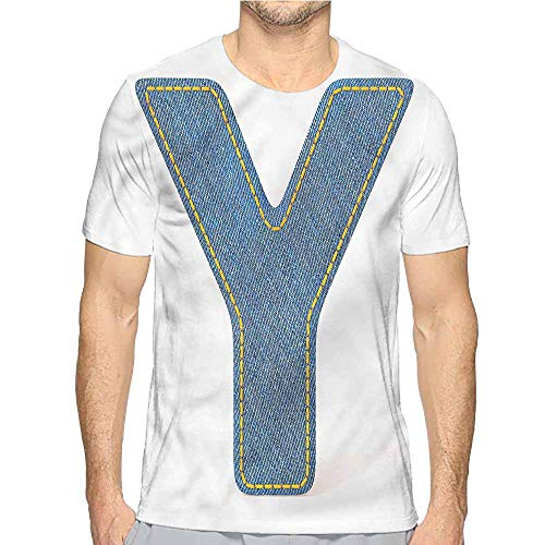 Funny t Shirt Letter Y,ABC of Vintage Fashion Men's and Women's t Shirt XXL]()