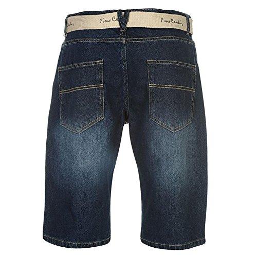 Lona Cardin Cortos Wash Tejido Cinturón La Pierre Longitud Pantalones Rodilla De Hombre Mid 4wdx6