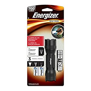 Energizer Tac700 Tactical LED Flashlight, Ultra Bright 700 High Lumens Flash Light 4 Modes, (cr123a Lithium Batteries Included)