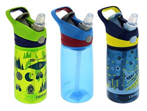 Contigo Autospout Striker - Botella para agua (414 ml, Granny Smith verde Camping, Color Azul Eléctrico y azul náutico barco: Amazon.es: Deportes y aire ...