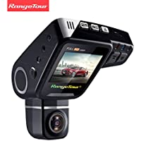 Rangetour C10s Car Dash Cam 2.0 LCD HD 1080P 170 Degree Wide Angle Nigth Vision Dashboard Hidden Video Recorder Camera with Novatek NT96650 Chip G- Sensor WDR Loop Recording, Free gift: 16GB Card