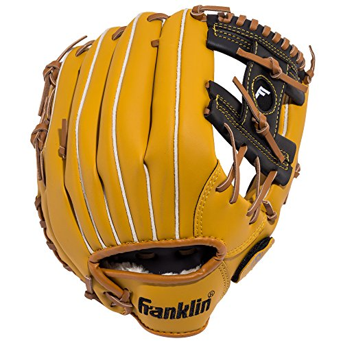 Franklin Sports Baseball Glove - Left and Right Handed Baseball and Softball Fielding Glove - Synthetic Leather Field Master Baseball Glove - 11 Inch Right Hand Throw