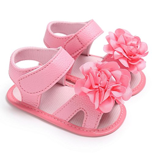 WARMSHOP Baby Girls Flower Decorate Soft Sole Anti-Slip Casual Princess Sandals Shoes