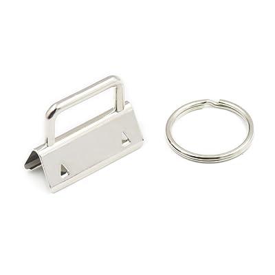 50 Ensembles pour clé de 32 mm 3,2 cm matériel Wristlet Lot de poignet Porte -clés Wristlet Définit avec Split Bagues Porte-clés pour Wristlets avec  ruban de ... d453f11de76