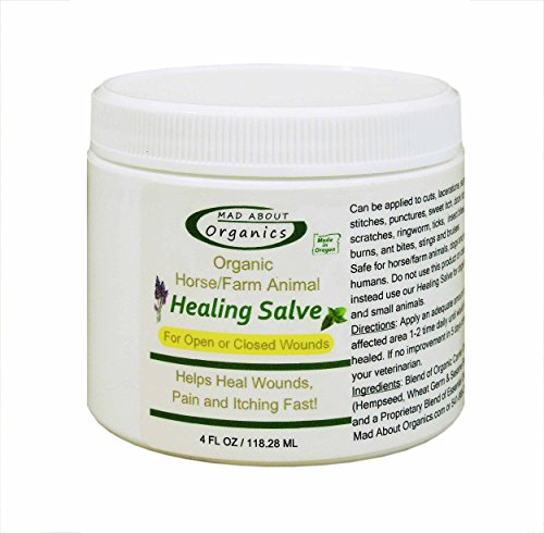 Mad About Organics All Natural Herbal Skin Wound Healing Salve for All Pets 4oz