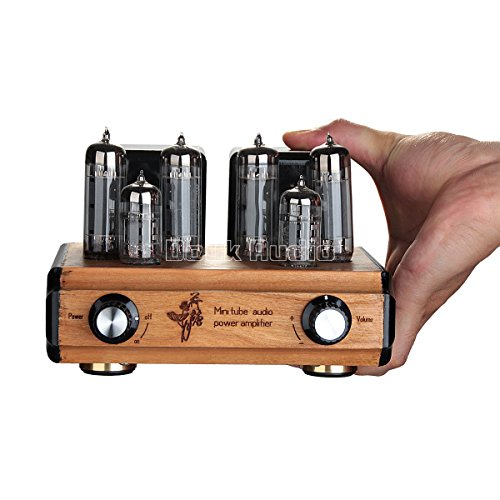 Nobsound Mini DIY Handmade 6N4+6P14(EL84) Vacuum Tube Amplifier; Push-pull Stereo Hi-Fi 2.0 Channel Power Amp 8W2 with Cherry Wood Shell for Audiophiles (6N4+6P14)