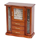 Mele and Co. Richmond Wooden Jewelry Box (Walnut Finish), Medium