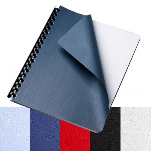 (TruBind Leather-Texture Paper Binding Covers - 12-Mil Thickness - White Color - Eco-Friendly - Variety of Sizes - for Business Reports and Proposals - 200 Individual Sheets)