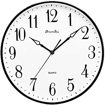DreamSky 13 1/2 Inch Extra Large Wall Clock , Non   Ticking U0026 Silent