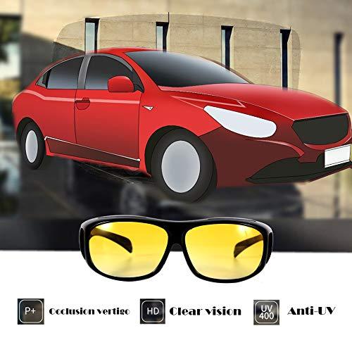 Night Vision Sunglasses Night Sight HD Driving Glasses Anti-Glare UV400 Protection Night Eyewear for Driver Yellow