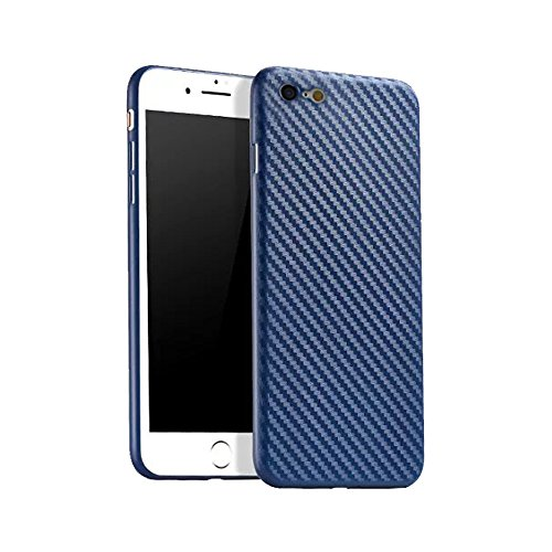 iPhone 6/6s 2017 Case, FANSONG [Carbon Fiber Textured] [Light Thin] Anti-slip Back Cover Cases for Apple iPhone 6/6s (Navy Blue)