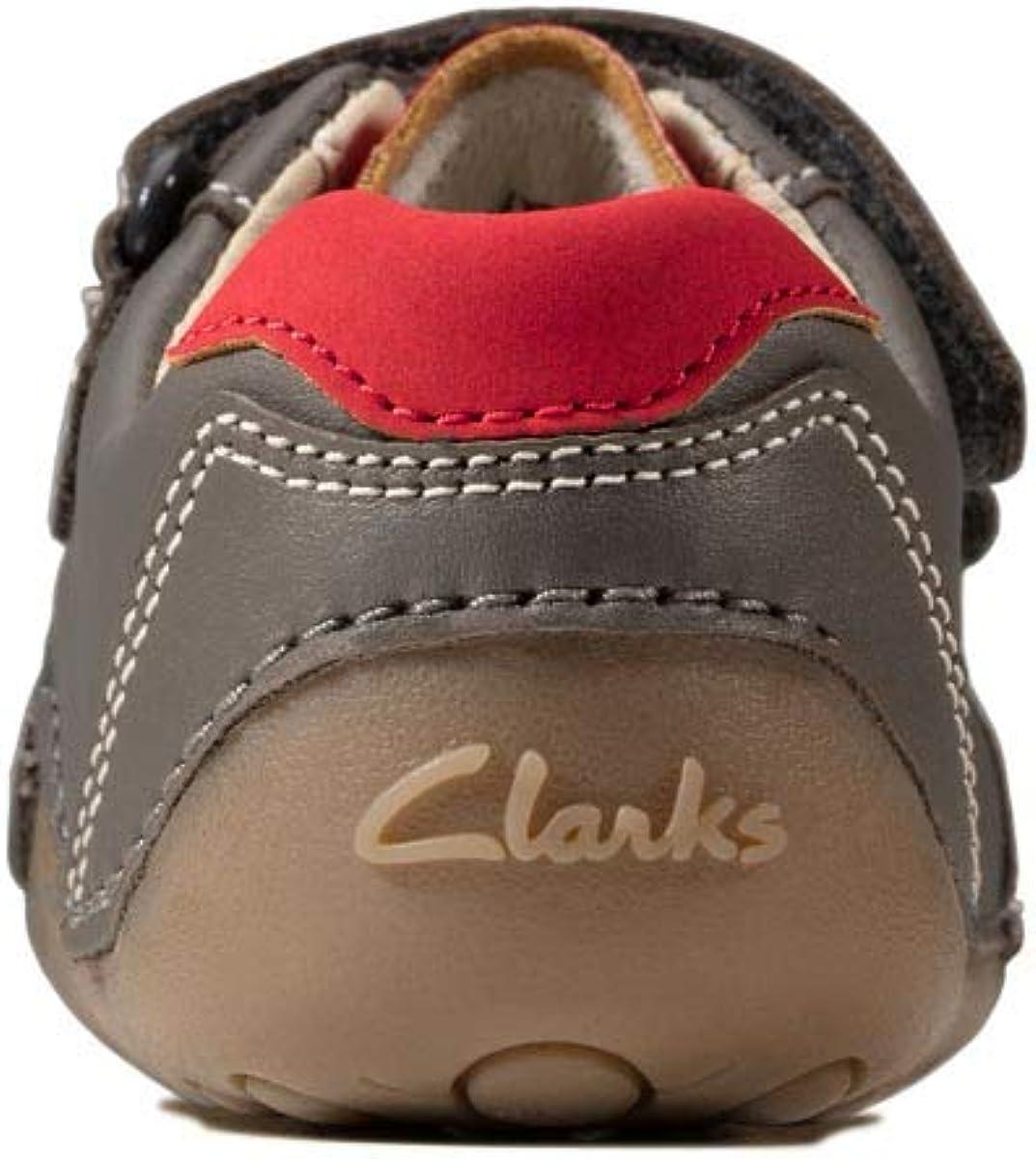 Clarks 470046F Tiny Dusk T Grey matt Leather Kids First Shoes