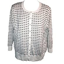 Cable & Gauge Women's Button Front Cardigan Sweater