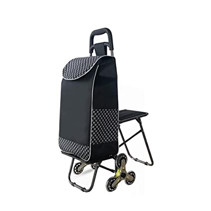 fe452f451808 Amazon.com: Wenhui Trolley Bag with Folding Chair, Stair Climbing ...