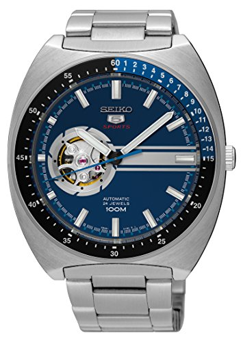 Seiko 5 Retro Open Heart Blue Dial Automatic Mens Watch SSA327 (The Pogues Best Of)