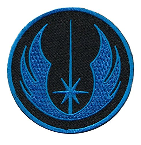 Star Wars Jedi Order Tactical Morale Patch Hook Patch (Blue) (Patch Velcro Starwars)