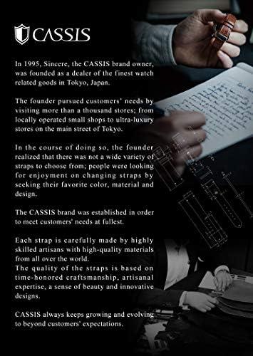 CASSIS[カシス] ナイロン 時計ベルト TYPE NATO タイプナトー 20mm ブラックxグレイ 交換用工具付き #141.601S891020