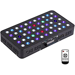 SYGAVLED 165W LED Aquarium Light Dimmable Full Spectrum Fixture with Timer Control System for Coral Reef Tanks