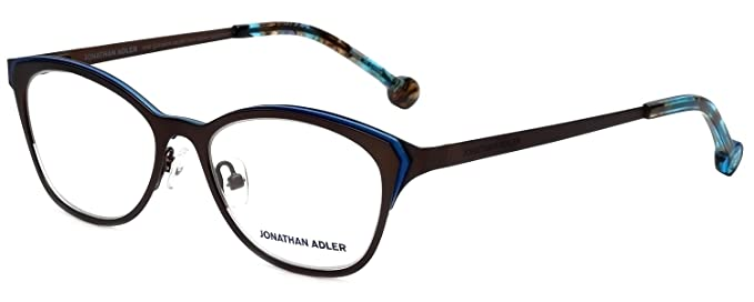 Amazon.com: Jonathan Adler Designer Eyeglass Frames JA110-Brown in ...