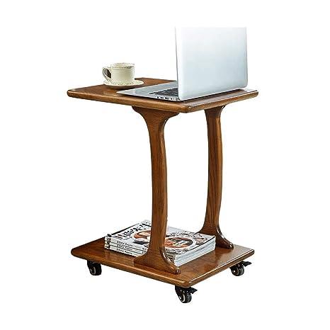Amazon.com: L-Life - Mesa auxiliar en forma de C con estante ...