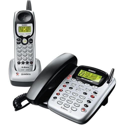 Uniden CXAI5198 5.8 GHz Analog Cordless Phone with Corded Base and Answering System ()
