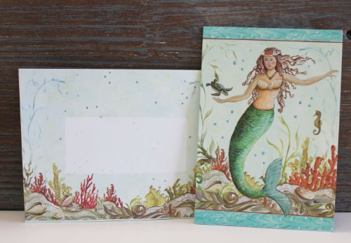 - 10 Boxed Mermaid Hideaway Note or Thank You Cards and 10 Matching Envelopes