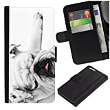 [Funny Sleepy Bulldog] for Samsung Galaxy S8 Active, Flip Leather Wallet Holsters Pouch Skin Case