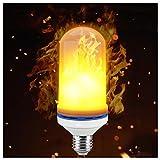 Magic Hue LED Flame Effect Light Bulb,E26 LED Flickering Decorative Light Atmosphere Lighting Vintage Flaming Light Bulb for for Home Decoration, Bedroom, Living Room, Bar and Festival Decoration