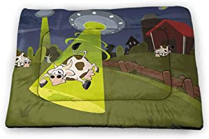 Pad Pet Cartoon Non-Slip Waterproof Collection Cute Farm Animals on Fence Comic Mascots with Dog Cow Horse Kids Decor Multicolor