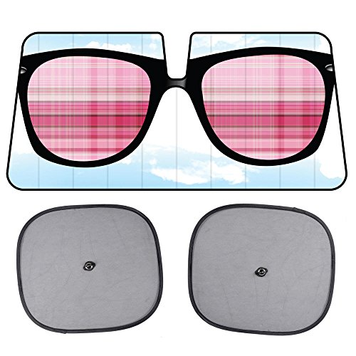 Sunglasses Windshield Sun Shade for Car SUV Truck with Side Window Sunshades - Cool - Sunglasses Sunshades