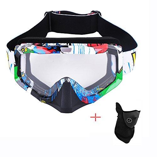 MotorFanClub Motocross QX Offroad ATV Dirt Bike Anti-UV Skiing Goggles with Black - Choosing Face Frames Shape For
