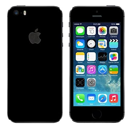 the latest 09251 385e1 GADGETS WRAP Apple iPhone 5s/SE Jet Black Glossy Skin: Amazon.in ...