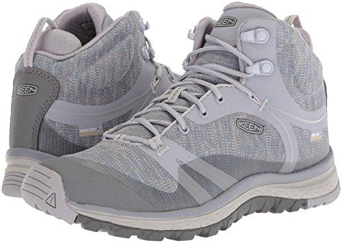513U5wKHWCL KEEN Women's Terradora Mid WP-W Hiking Boot, Dapple Grey/Vapor, 8 M US