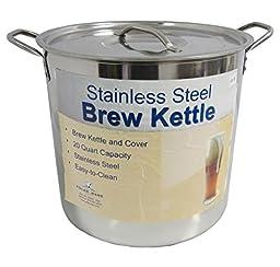 20 Qt Stainless Steel Brew Kettle w/ Lid