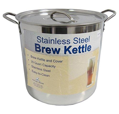 20 Qt Stainless Steel Brew Kettle w/ Lid by Polarware Brewkettle